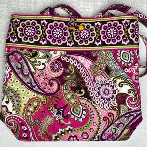 Vera Bradley Very Berry Paisley Tote Shoulder Bag